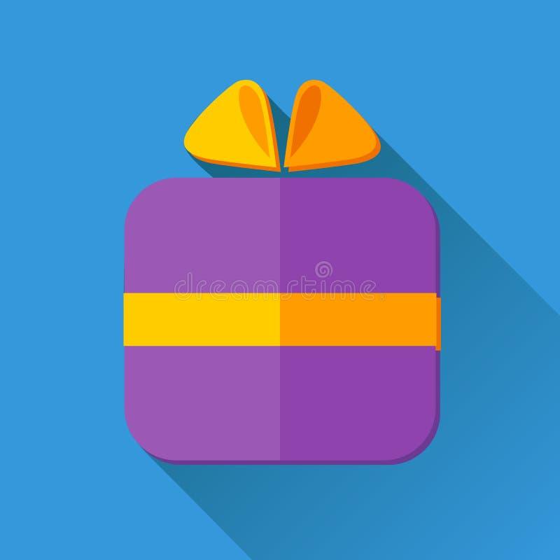 Prosta prezent ikona w mieszkanie stylu ilustracja wektor