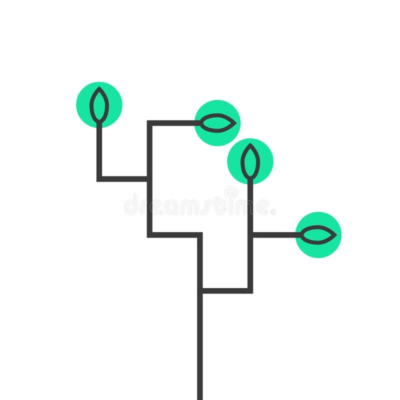 Prosta schematyczna drzewna ikona ilustracji