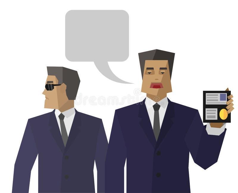Prosta specjalna obsługa agentów przedstawień tożsamość ilustracji