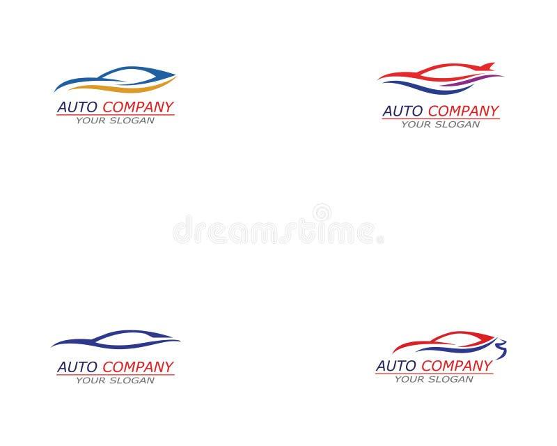 Prosta sportowego samochodu logo szablonu wektoru ikona royalty ilustracja