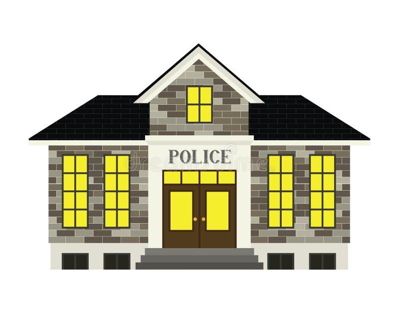 Komenda Policji royalty ilustracja