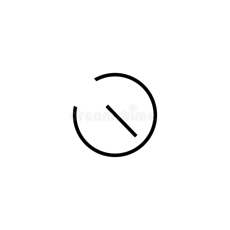Prosta zegarowa ikona z jeden strzałą ilustracja wektor