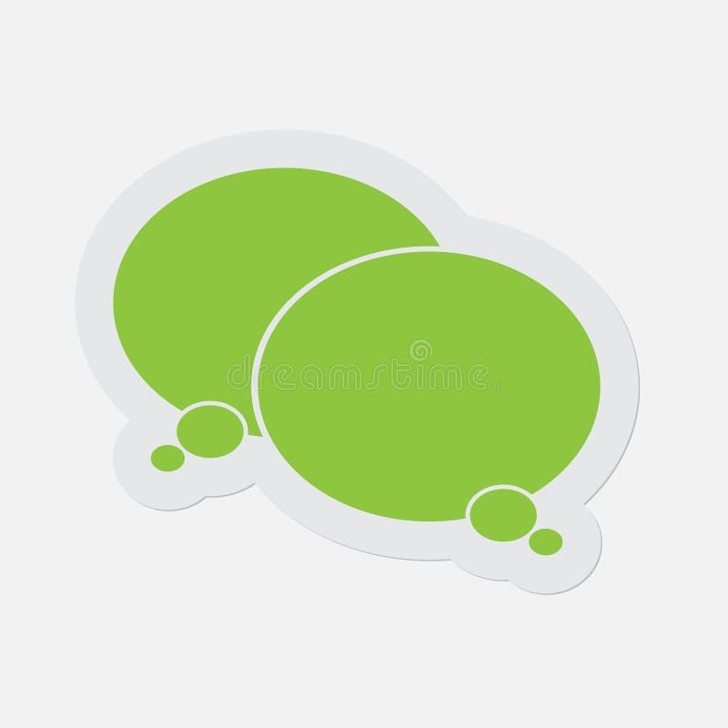 Prosta zielona ikona - dwa myślącego mowa bąbla ilustracja wektor