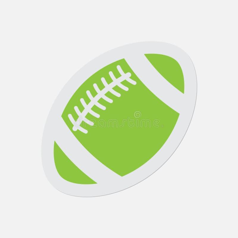 Prosta zielona ikona - futbol amerykański piłka royalty ilustracja