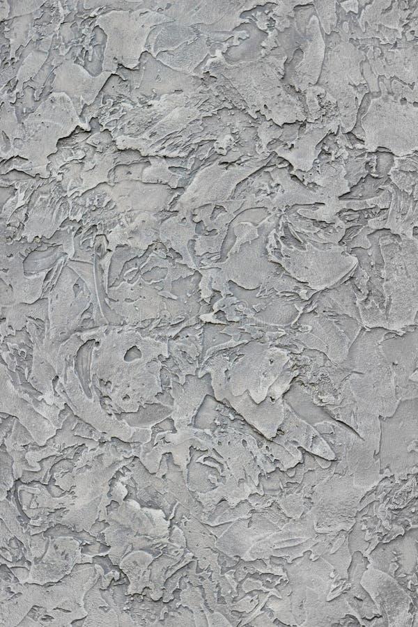 Prostacka popielata tynk ściana dla tła lub tekstury fotografia royalty free