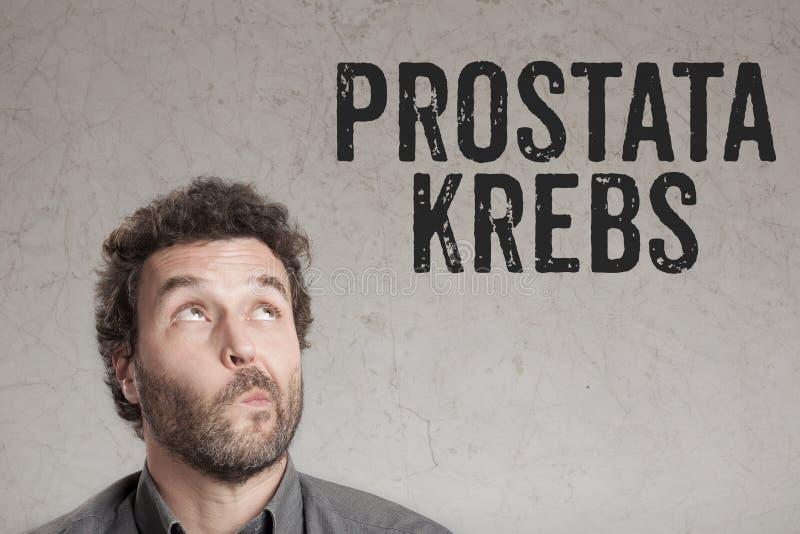 Prostata Krebs, texte allemand pour l'écriture d'homme de cancer de la prostate sur g photo stock