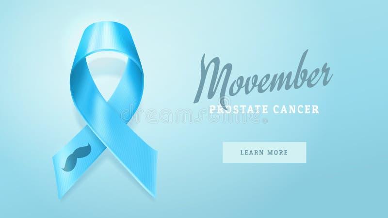 Prostate Cancer Awareness Blue Ribbon Background Prostate Cancer