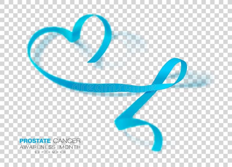 Prostate Cancer Awareness Month. Light Blue Color Ribbon Isolated On Transparent Background. Vector Design Template For. Poster. Illustration royalty free illustration