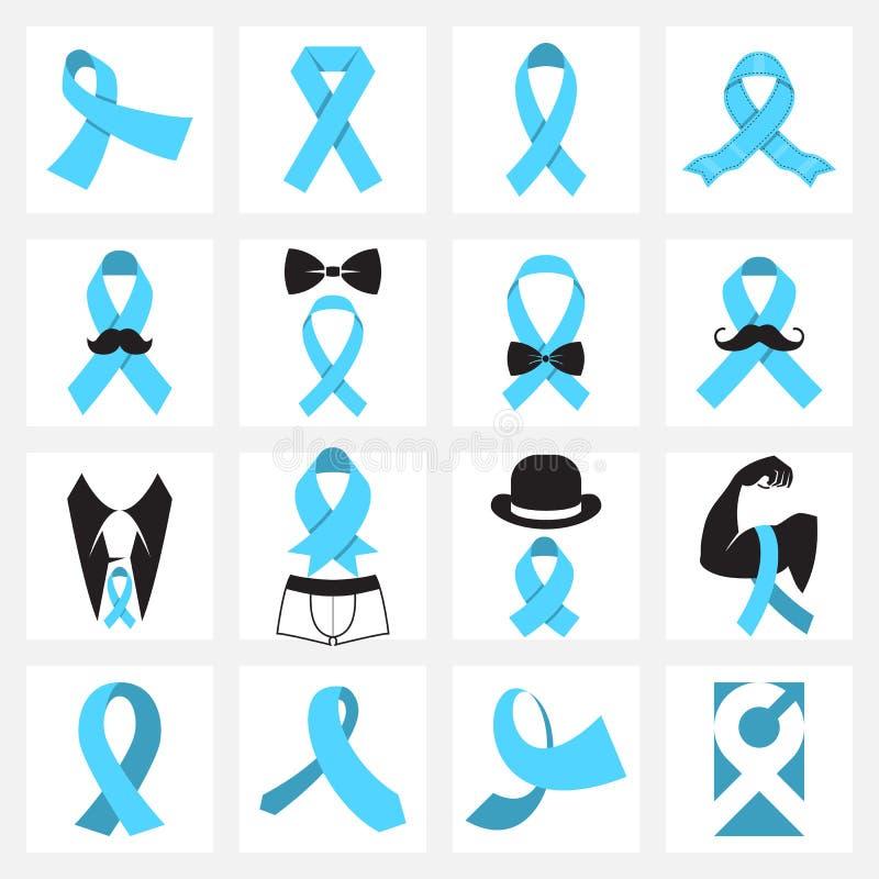 Prostate Cancer Awareness Symbols Stock Vector Illustration Of