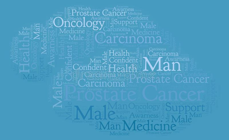 Prostate Cancer word cloud. Wordcloud made with text only vector illustration