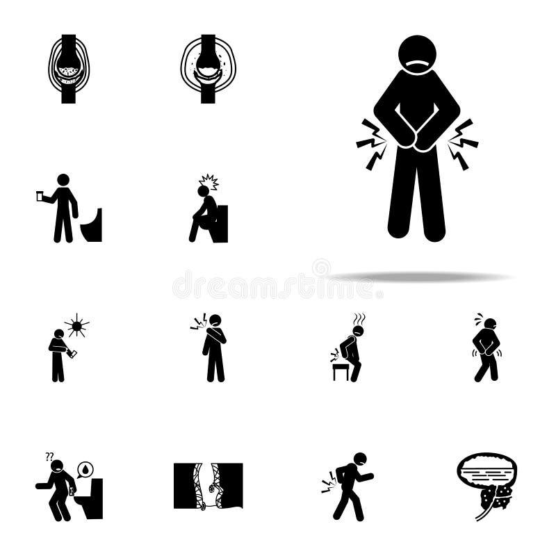 prostatitis smärtar symbolen E stock illustrationer