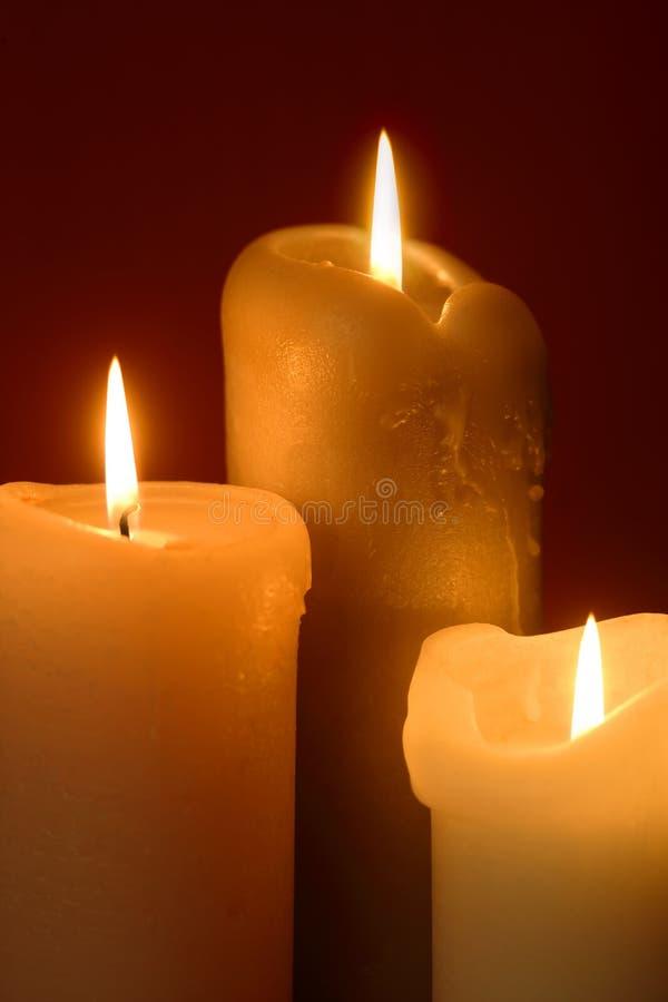 proste świece. zdjęcia stock