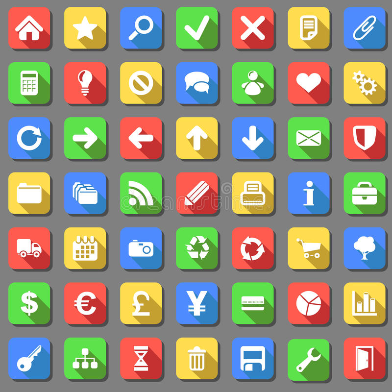 Proste ikony ustawiać ilustracji