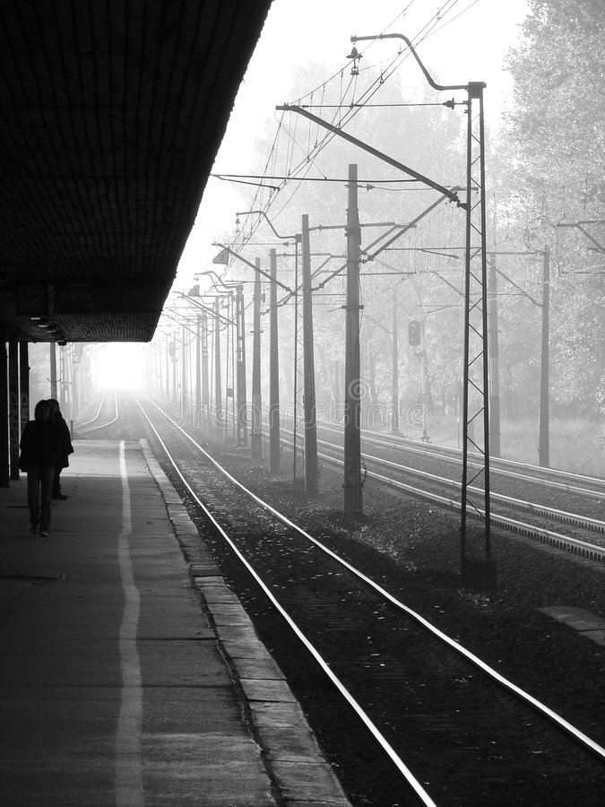proste jak kolejowy obraz stock