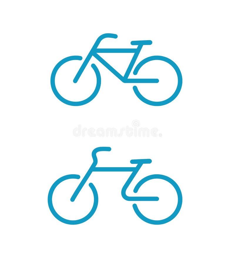Proste rowerowe ikony ilustracja wektor