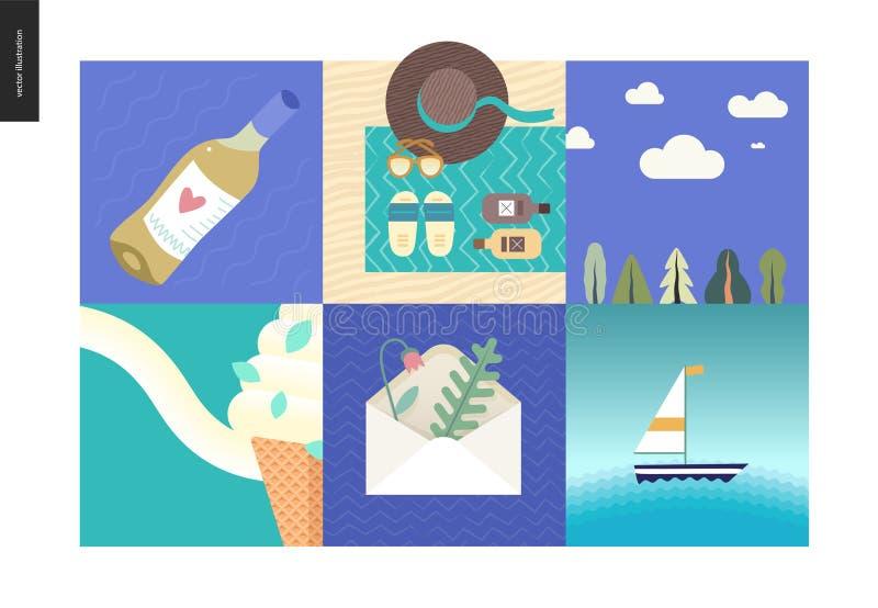 Proste rzeczy - wakacje ilustracji