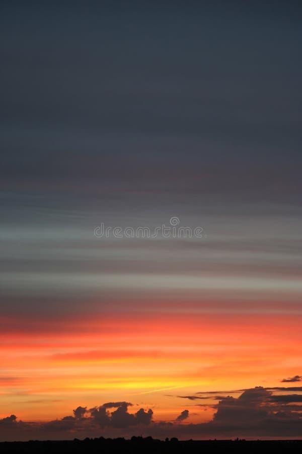 proste zachód słońca nad cicho fotografia stock