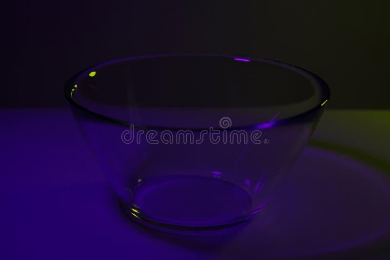 Prostego abstrakta lotniczego balonu pojedynczego koloru gradientowy tło robić dwa kolorowymi światłami transitioning w each inny fotografia stock