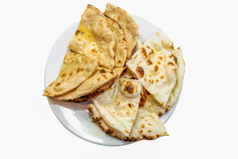 prostego grilla naan chleb na talerzu z a z tłem zdjęcie stock