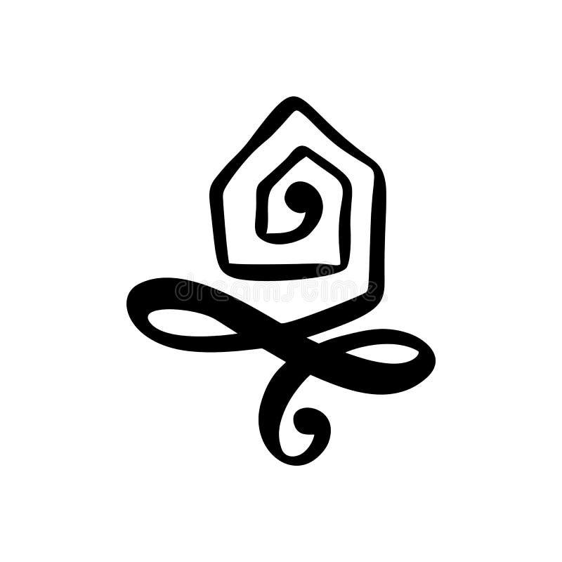 Prostego kaligrafia domu Istna Wektorowa ikona Nieruchomości architektury budowa dla projekta Sztuka rocznika logo domowa ręka ry ilustracji