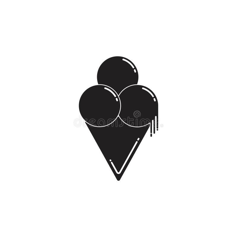 Prostego lody symbolu ?liczny wektor ilustracja wektor