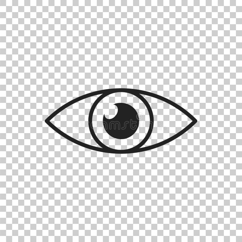 Prostego oka ikony wektor Wzroku piktogram w mieszkanie stylu ilustracja wektor