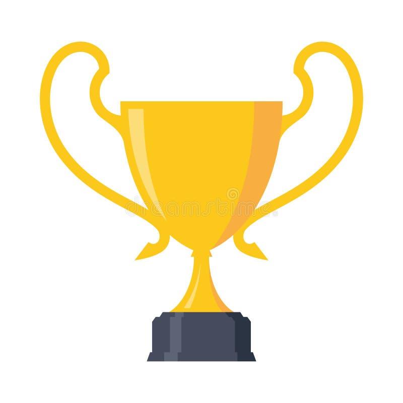 Prostego pierwszy miejsce złotej filiżanki mistrzostwa projekta nagrodzony element royalty ilustracja