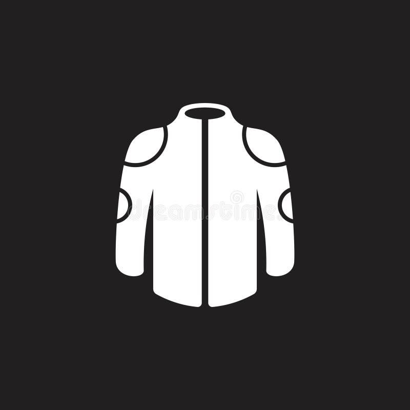 Prostej kurtki symbolu ikony geometryczny wektor ilustracja wektor