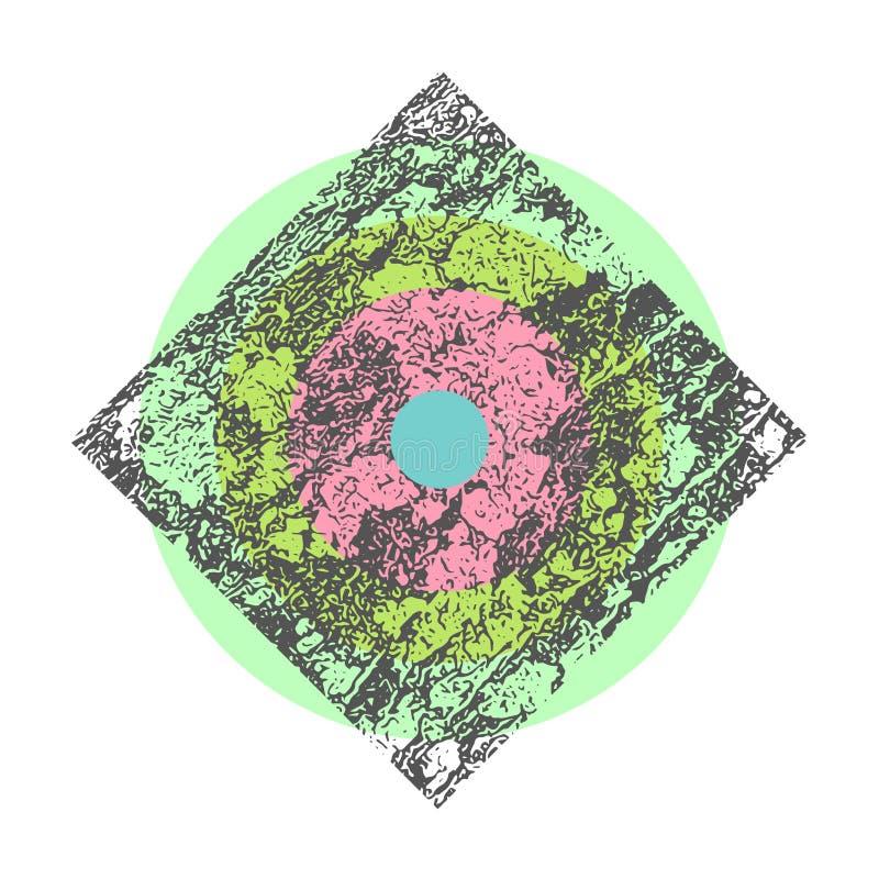 Prostej mody Geometryczna tekstura ilustracja wektor