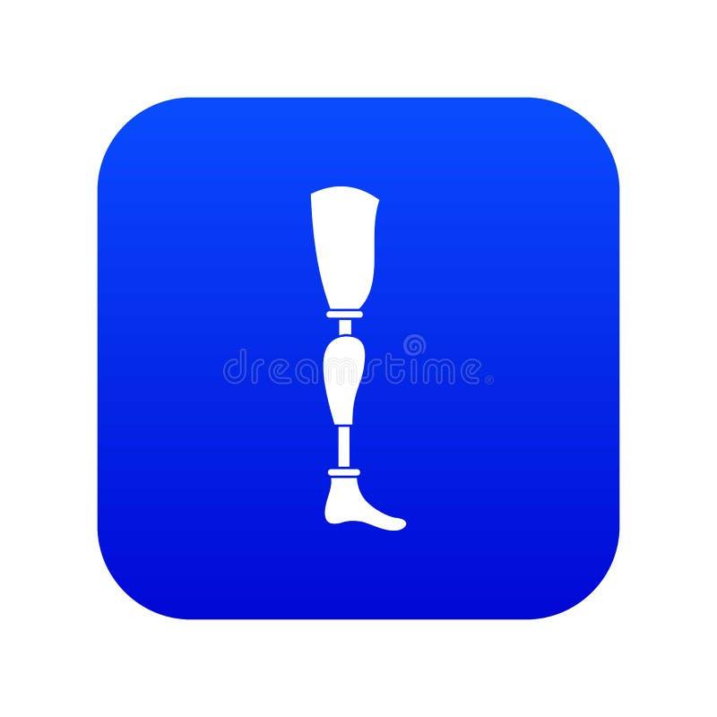 Prosthesis leg icon digital blue. For any design isolated on white vector illustration vector illustration