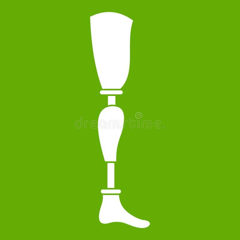 Prosthesis nogi ikony zieleń ilustracja wektor