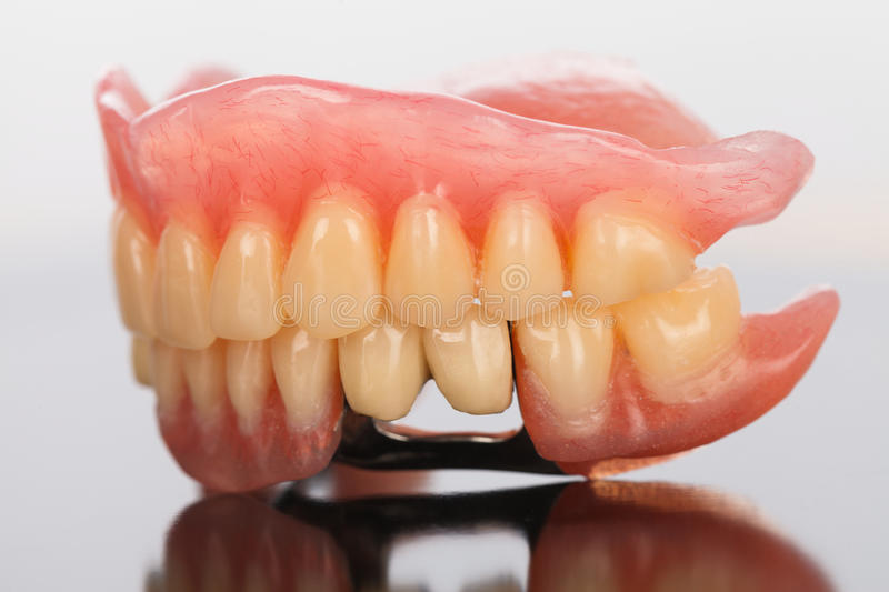 Prosthetic dental products royalty free stock images