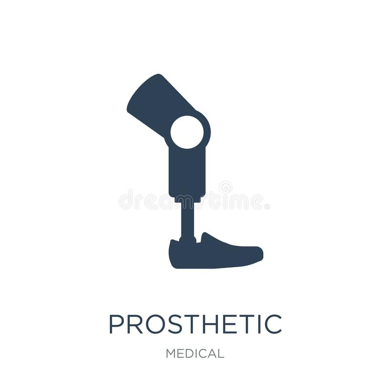 Prosthetic icon in trendy design style. prosthetic icon isolated on white background. prosthetic vector icon simple and modern. Flat symbol for web site, mobile royalty free illustration