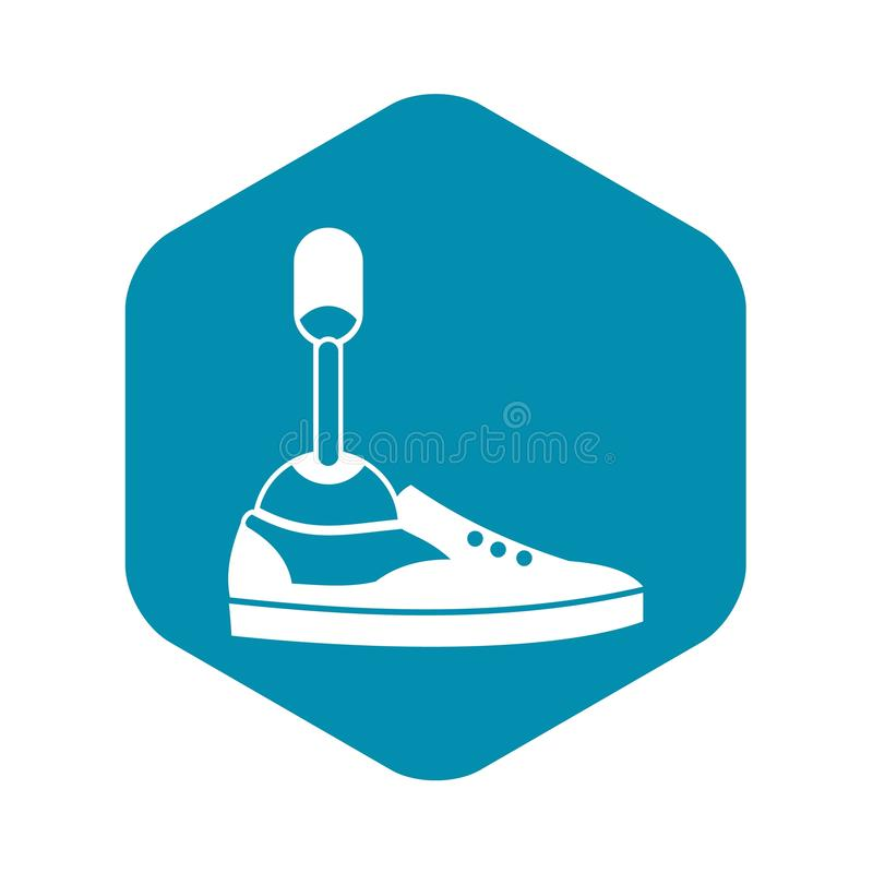 Prosthetic leg icon, simple style. Prosthetic leg icon in simple style on white background stock illustration