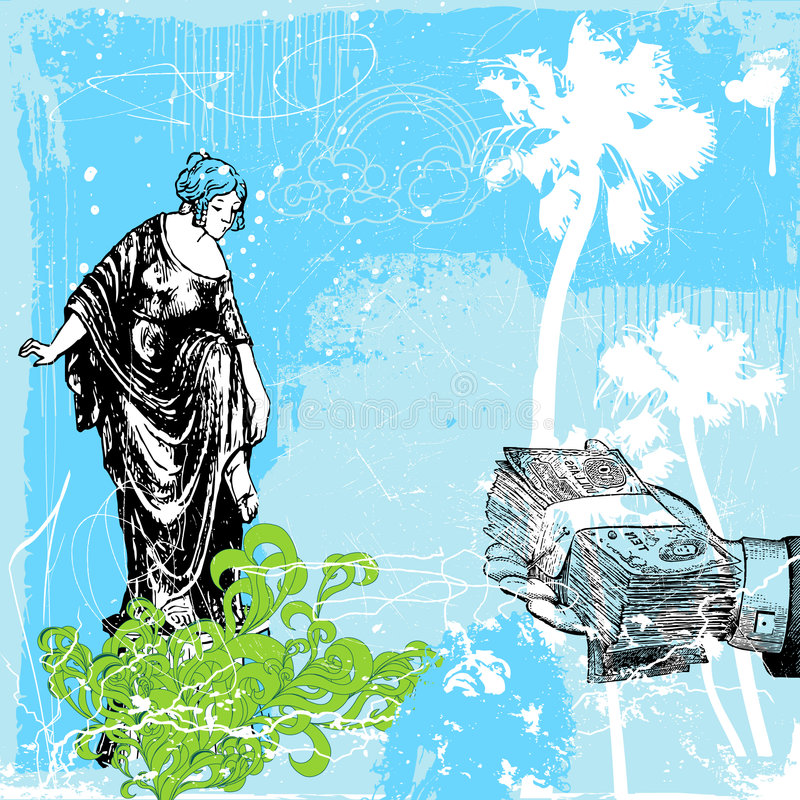 Prostituta ilustração royalty free