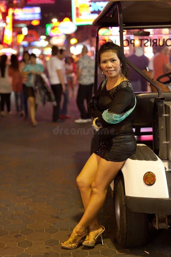Prostitute en calle fotografía de archivo
