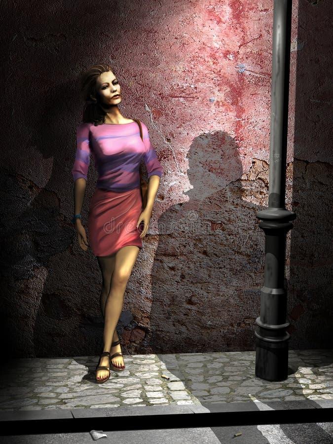 Prostitutie royalty-vrije illustratie
