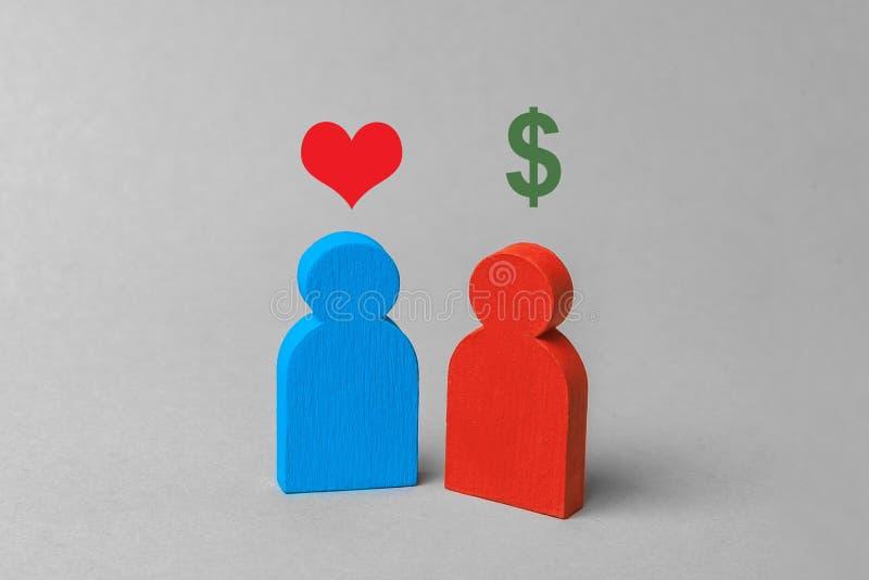 Prostitution oder käufliche Liebe Frau bietet vertraute Services für Geld an Austausch der Liebe für Geld, Heirat vergeblich lizenzfreie stockfotografie