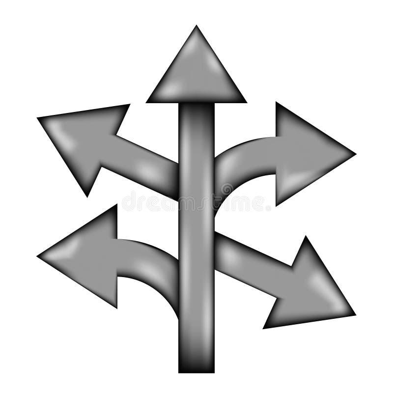 Prosto, lewy i prawy strzała znaka ikona ilustracja wektor