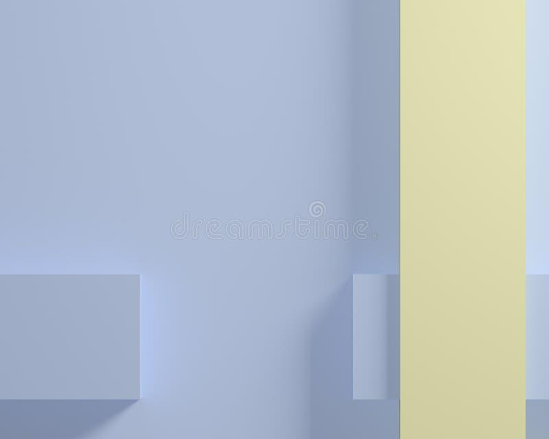 Prostokątów kształtów tła geometryczny abstrakt 3D odpłaca się ilustracji