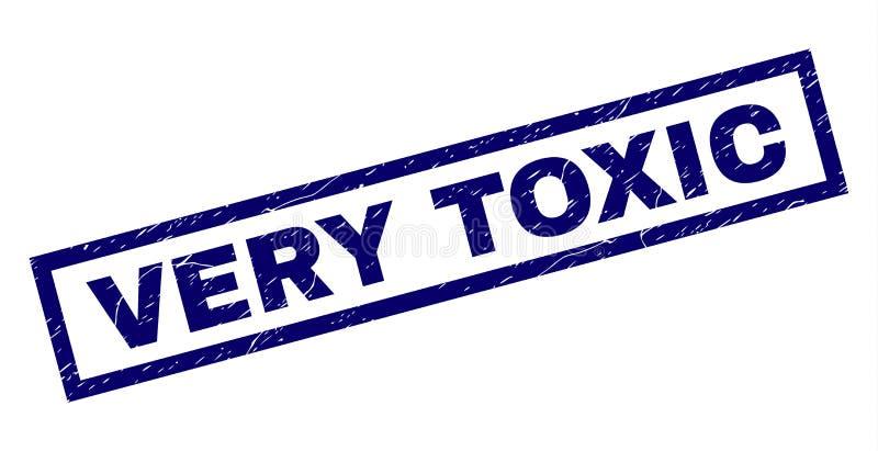 Prostokąt Drapający BARDZO substancja toksyczna znaczek ilustracji