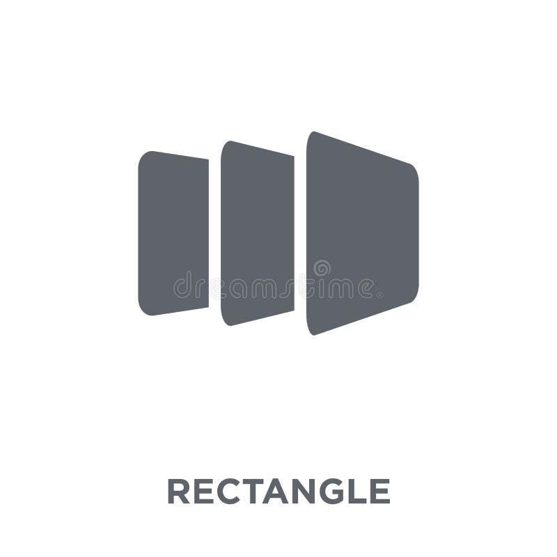 Prostokąt ikona od geometrii kolekcji ilustracji