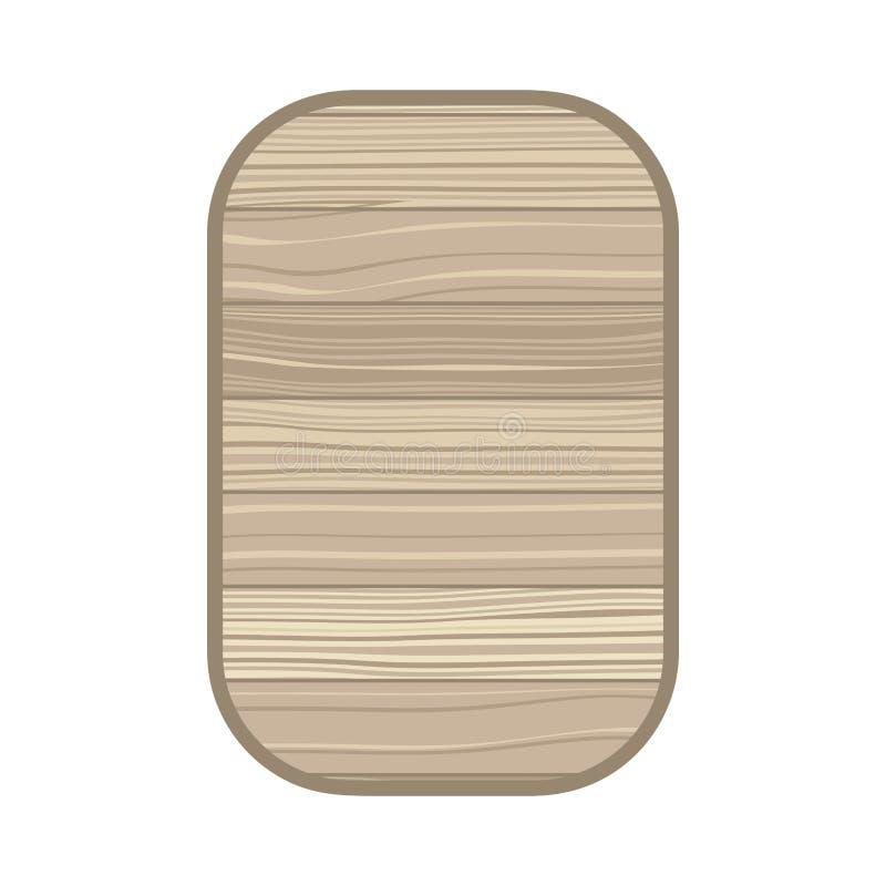 Prostokąt z drewnianej tekstury odosobnioną ikoną royalty ilustracja