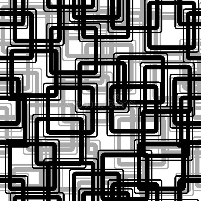 prostokąta bezszwowy czarny wzoru royalty ilustracja