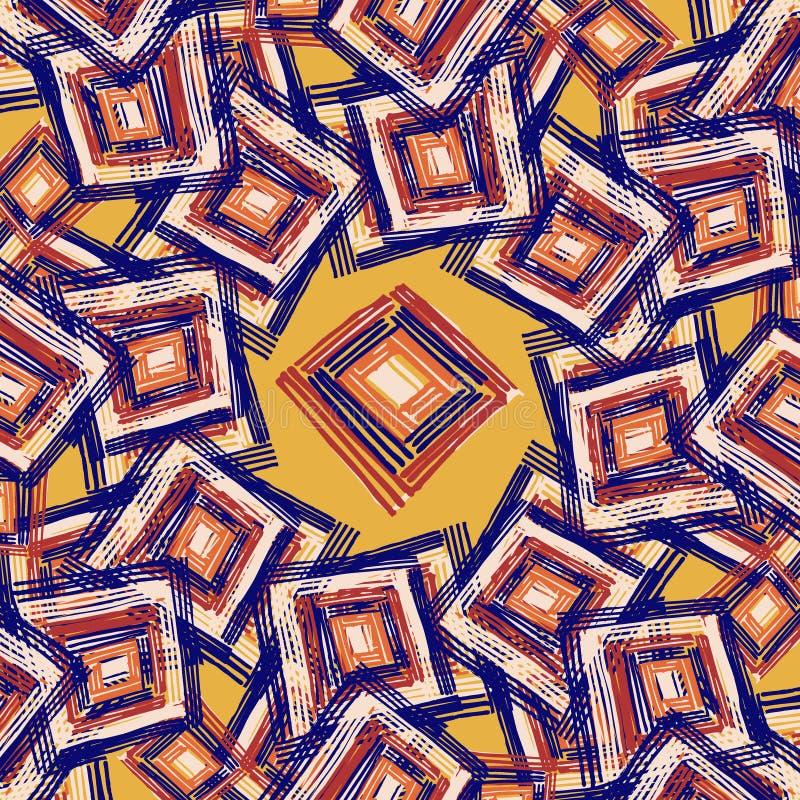 Prostokąta mandala royalty ilustracja