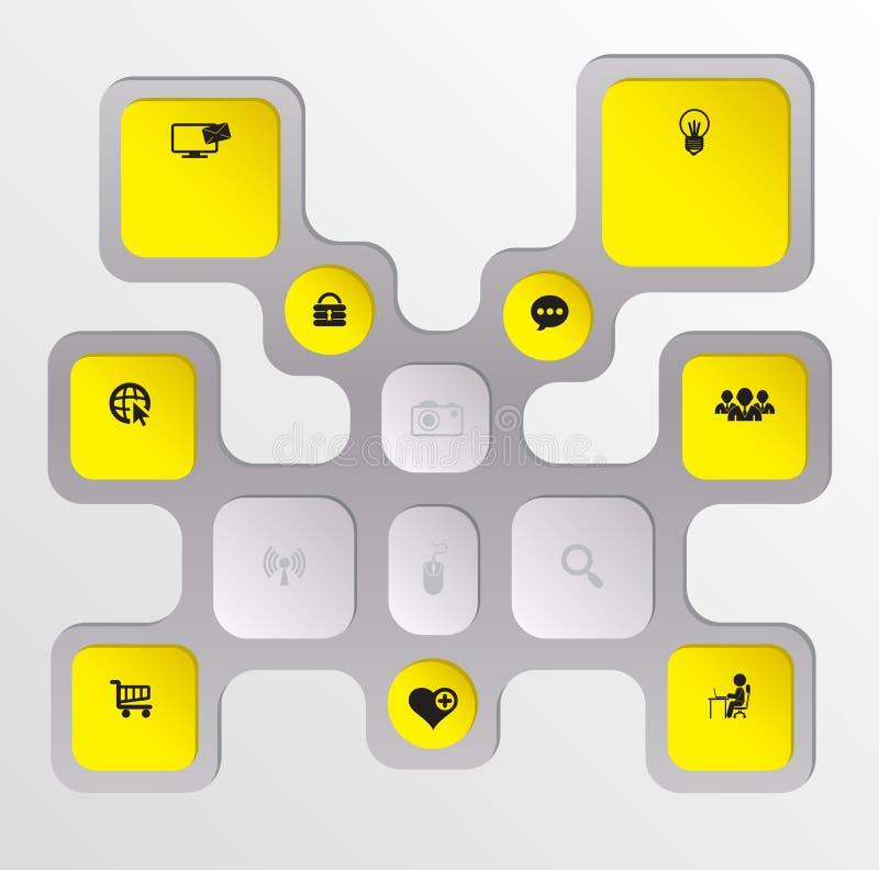 Prostokąta tło nowożytny z ikonami