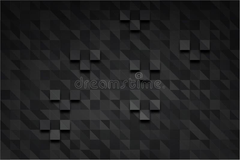 Prostokąta zmroku piksel ilustracja wektor