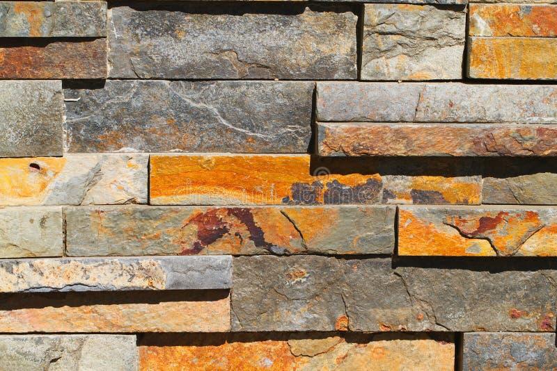 prostokątna kamienna ściana zdjęcia royalty free
