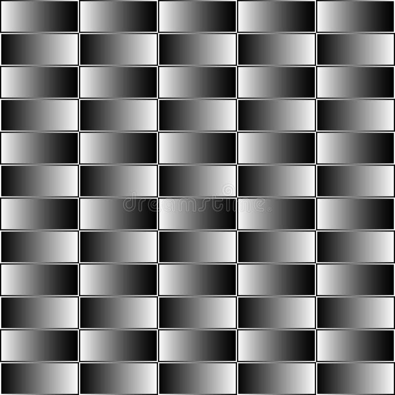 Prostokąty z grayscale, contrasty gradientowa pełnia Bezszwowy klepnięcie ilustracja wektor