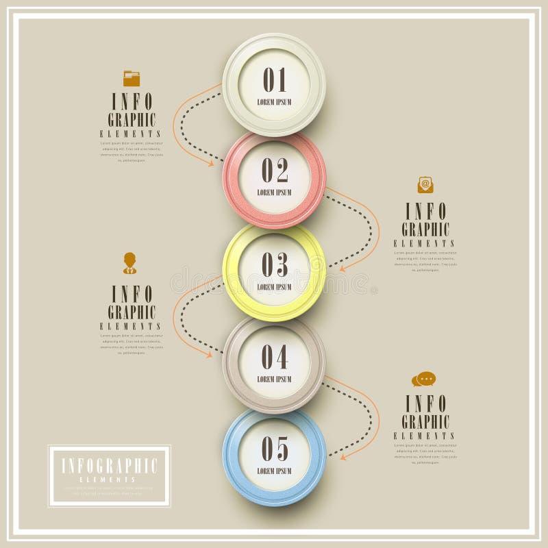 Prostota infographic szablon royalty ilustracja